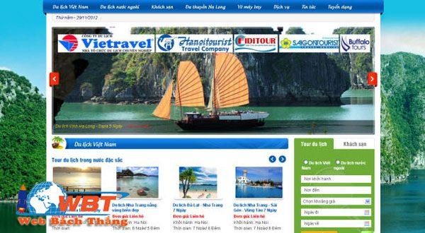 Thiết Kế Website Du Lịch Giá Rẻ Hàng đầu Việt Nam