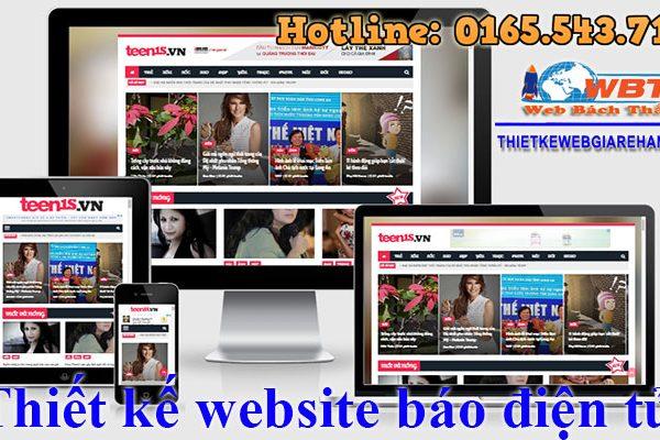 Thiết Kế Website Báo điện Tử đảm Bảo Chất Lượng Tốt Nhất