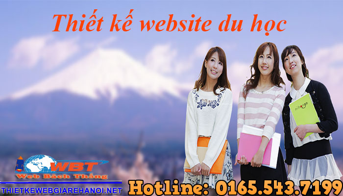 Thiết Kế Website Du Học