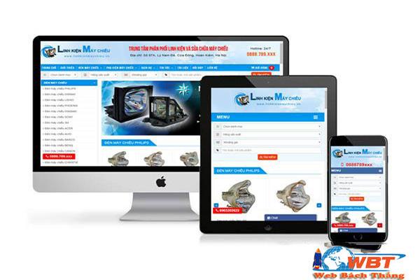 Giao diện website bán máy chiếu chuẩn di động
