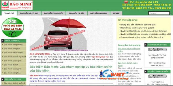 Lựa chọn thiết kế website bảo hiểm phù hợp