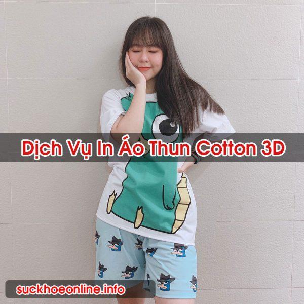 In Áo Thun Cotton 3D Chất Lượng Đảm Bảo Sức Khỏe Online